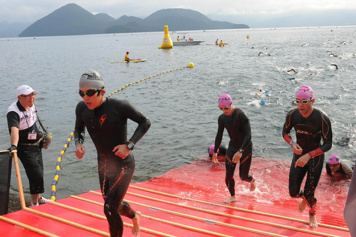 Ironman Japan Swim Exit