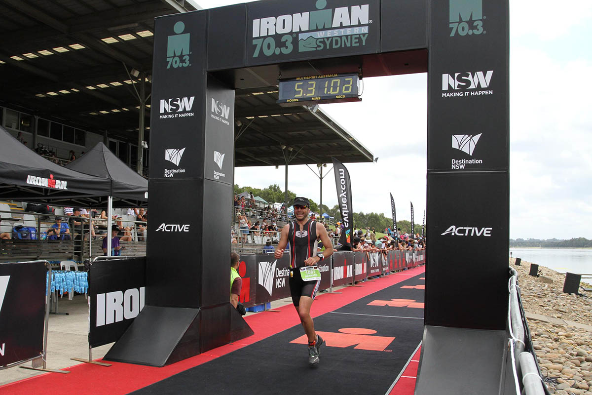 Ironman 70.3 Western Sydney Finish Line