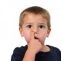 Picking your nose: a bad habit!