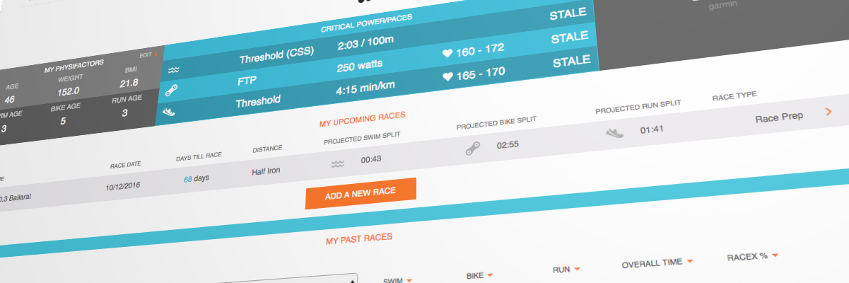 TriDot Triathlon performance benchmarks